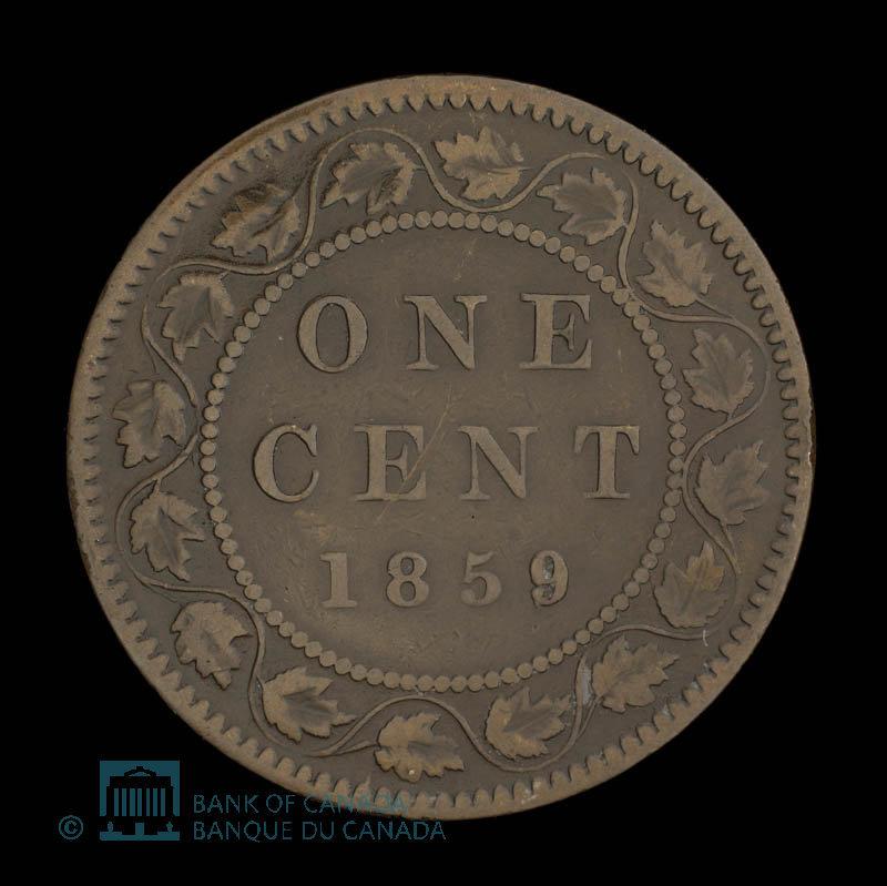 Canada, Victoria, 1 cent : 1859