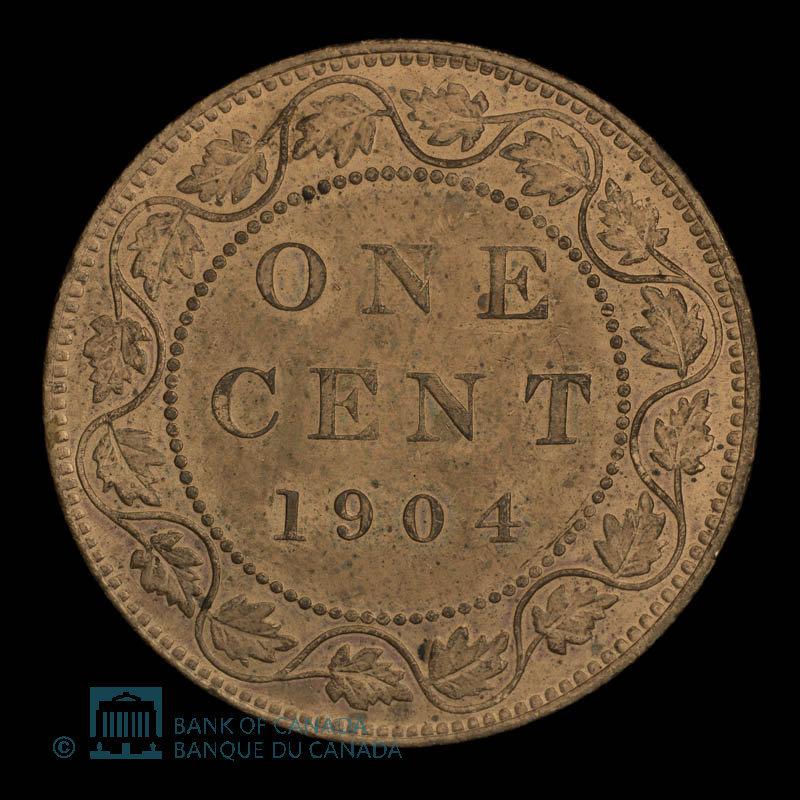 Canada, Édouard VII, 1 cent : 1904