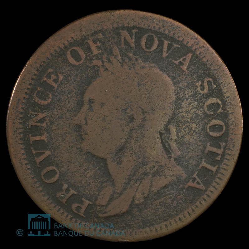 Canada, Province de la Nouvelle-Écosse, 1 penny : 1832