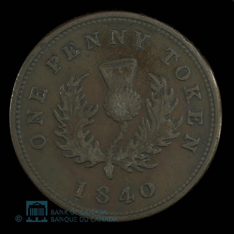 Canada, Province de la Nouvelle-Écosse, 1 penny : 1840