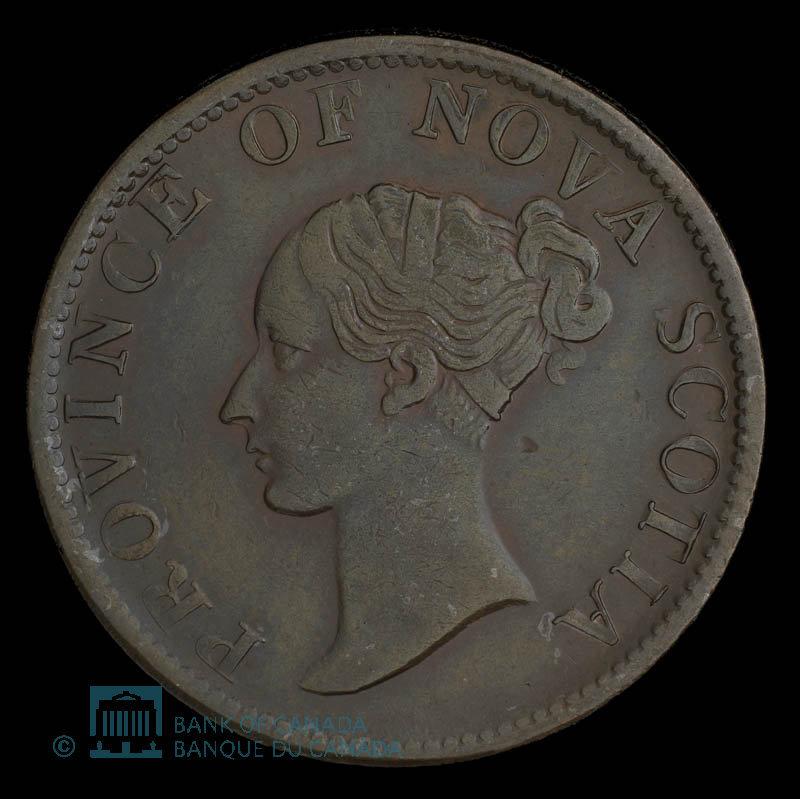 Canada, Province de la Nouvelle-Écosse, 1/2 penny : 1840