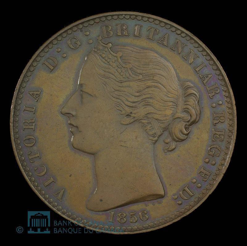 Canada, Province de la Nouvelle-Écosse, 1 penny : 1856