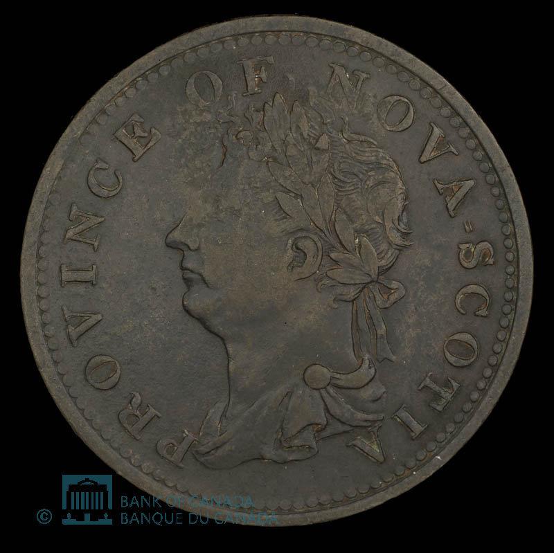 Canada, Province de la Nouvelle-Écosse, 1/2 penny : 1823