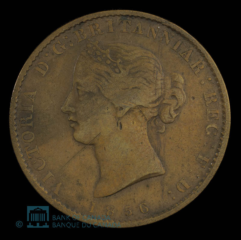 Canada, Province de la Nouvelle-Écosse, 1/2 penny : 1856