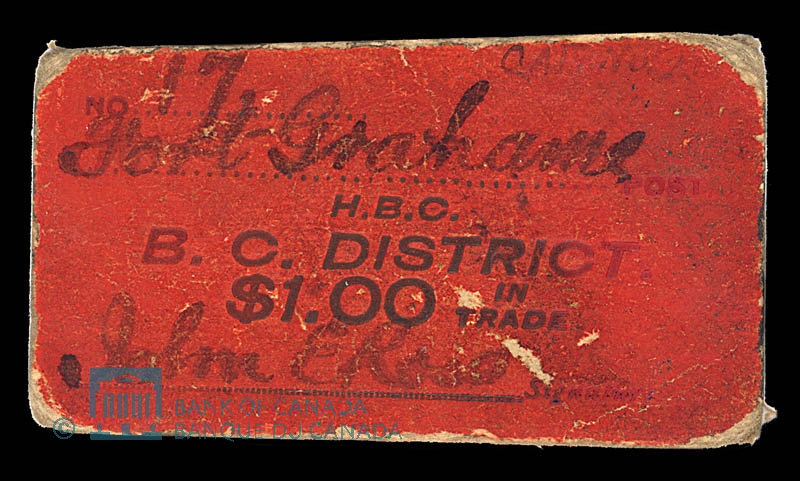 Canada, Compagnie de la Baie d'Hudson, 1 dollar : 1927