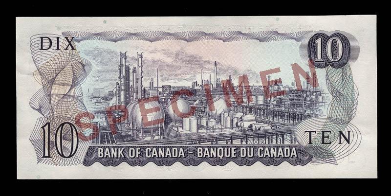 Canada, Banque du Canada, 10 dollars : 1971