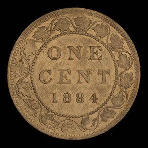 Canada, Victoria, 1 cent : 1884