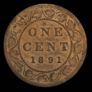 Canada, Victoria, 1 cent : 1891