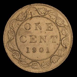 Canada, Victoria, 1 cent : 1901