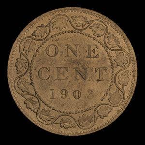 Canada, Édouard VII, 1 cent : 1903