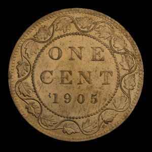 Canada, Édouard VII, 1 cent : 1905