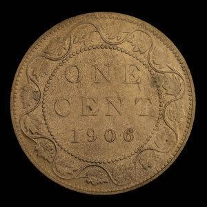 Canada, Édouard VII, 1 cent : 1906