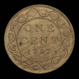 Canada, Édouard VII, 1 cent : 1907