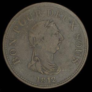 Canada, inconnu, 1 penny : 1812