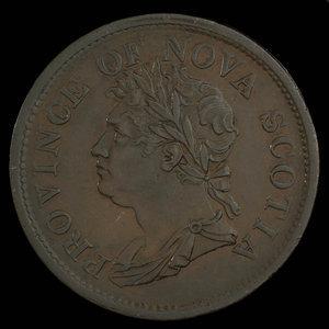 Canada, Province de la Nouvelle-Écosse, 1 penny : 1824