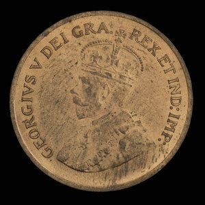 Canada, Georges V, 1 cent : 1935