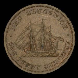 Canada, Province du Nouveau-Brunswick, 1 penny : 1854