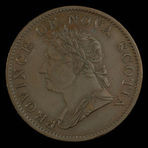 Canada, Province de la Nouvelle-Écosse, 1/2 penny : 1832