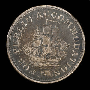 Canada, inconnu, 1/2 penny : 1831