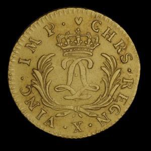France, Louis XV, 1 louis d'or, 27 livres : 1724