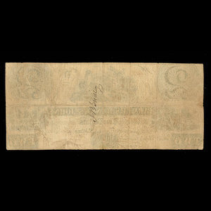 Canada, Farmers Bank of St. Johns, 2 dollars : 4 décembre 1837