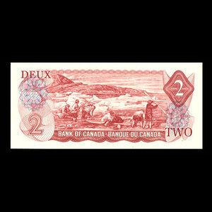 Canada, Banque du Canada, 2 dollars : 1974