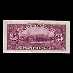 Canada, Banque du Canada, 25 dollars : 6 mai 1935