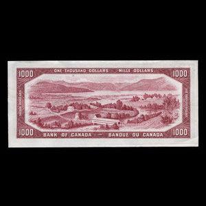 Canada, Banque du Canada, 1,000 dollars : 1954