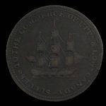 Canada, inconnu, 1/2 penny <br /> 1814