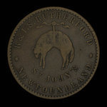 Canada, R. & I.S. Rutherford, 1/2 penny <br /> 1841
