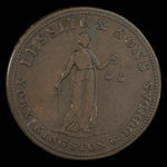 Canada, Lesslie & Sons, 1/2 penny <br /> 1824