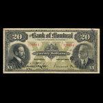Canada, Banque de Montréal, 20 dollars <br /> 3 novembre 1914