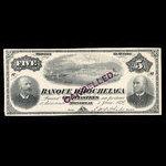 Canada, Banque d'Hochelaga, 5 piastres <br /> 1 juin 1894