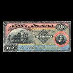 Canada, Banque d'Hochelaga, 10 piastres <br /> 1 juin 1889