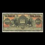 Canada, Banque Nouvelle-Écosse, 100 dollars <br /> 2 janvier 1929