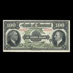 Canada, Banque de Montréal, 100 dollars <br /> 2 janvier 1931