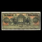 Canada, Banque Nouvelle-Écosse, 100 dollars <br /> 2 janvier 1925