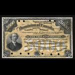 Canada, Dominion du Canada, 5,000 dollars <br /> 2 juin 1896