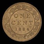 Canada, Victoria, 1 cent <br /> 1884