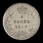 Canada, Victoria, 5 cents <br /> 1885