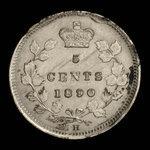 Canada, Victoria, 5 cents <br /> 1890
