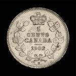 Canada, Édouard VII, 5 cents <br /> 1902