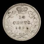 Canada, Victoria, 10 cents <br /> 1893