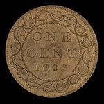 Canada, Édouard VII, 1 cent <br /> 1903