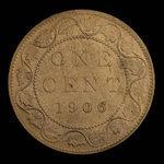 Canada, Édouard VII, 1 cent <br /> 1906