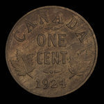 Canada, Georges V, 1 cent <br /> 1924