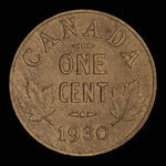 Canada, Georges V, 1 cent <br /> 1930