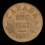 Canada, Georges V, 1 cent <br /> 1935