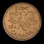 Canada, Georges VI, 1 cent <br /> 1947