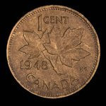 Canada, Georges VI, 1 cent <br /> 1948